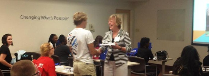 Wando Student getting MUSC Nursing Camp Certificate