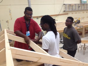 Garrett Academy Construction students 2
