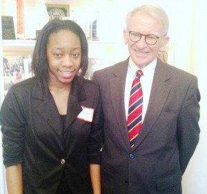 Mayor Riley and BHMHS Student Jerika Magwood