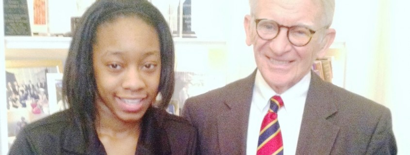 Mayor Riley and BHMHS Student Jerika Magwood header