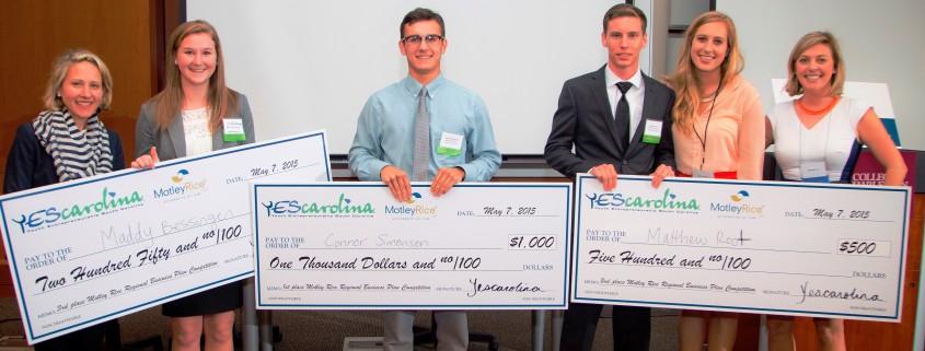 YEScarolina Biz Plan Regionals top 3 winners