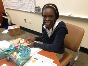 Jonashia Varns is assisting with summer camps at Lowcountry Tech Academy.