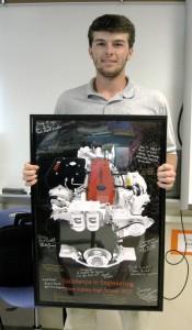 Robert Rentz winner of WAHS Excellence in Engineering Award