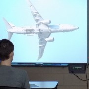 Boeing SC volunteer speaking to WAHS engineering class