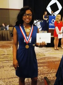 Senior Ashante Edwards placed first in the category Apparel and Accessories  Marketing and will advance to compete at the International Career Development Conference (ICDC) in April.
