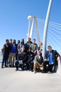 Group on the bridge