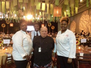 me and helpers at Chef Feast full