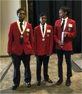 Michael Reynolds, KeShawn Rollerson, Rebekah Simmons-2nd Engineering Technology