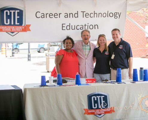 CTE Support Team and Mayor Teck