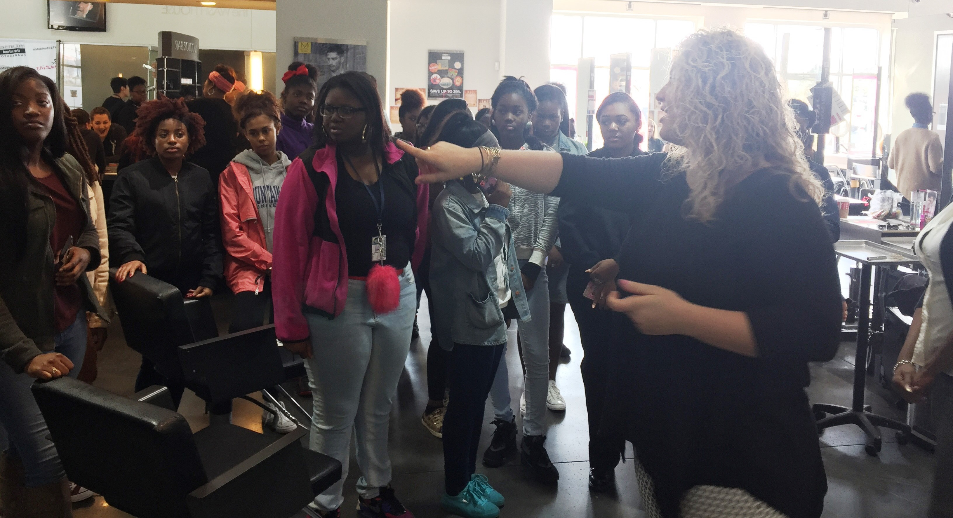 CCSD CTE | Students in West Ashley High School Nail