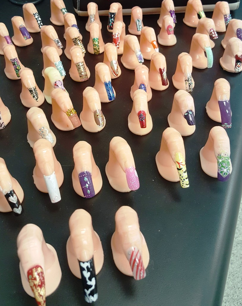 CCSD CTE | Nail Technology Students from West Ashley High School ...