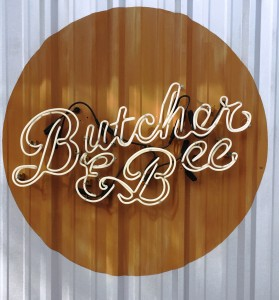 Butcher and Bee Sign