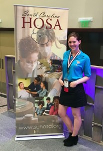 West Ashley High senior Mary Johnson placed first on the Behavioral Health Knowledge Test at the South Carolina HOSA State Leadership Conference. Johnson will next represent West Ashley High at the HOSA International Leadership Conference at Disney's Coronado Springs Resort in June.