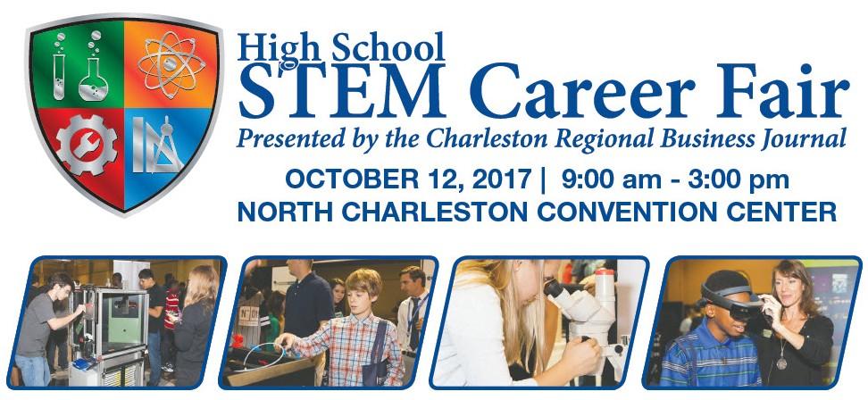 2017 Charleston high school STEM career fair logo