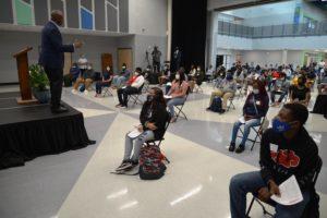 Sen. Tim Scott speaking to students